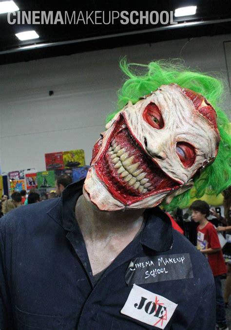 terrifying   joker face prosthetic  makeup