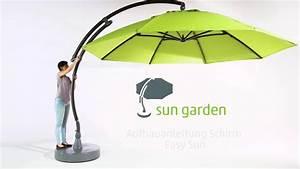Sun Garden Schirm : sun garden aufbauanleitung schirm easy sun youtube ~ Orissabook.com Haus und Dekorationen