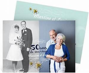 Faire Part Anniversaire 50 Ans : invitation anniversaire de mariage pour convier vos ~ Edinachiropracticcenter.com Idées de Décoration