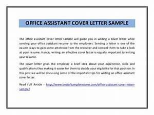 office assistant cover letter With cover letter examples for office assistant with no experience