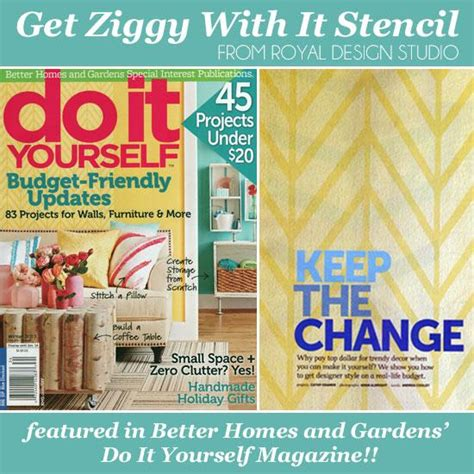 do it yourself magazine features get ziggy with it wall