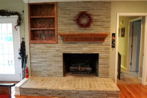 the solution to the dated brick fireplace that even your