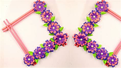 Diy wall hangings are very popular among crafters. DIY Easy Paper Flowers Wall Hanging at Home - Handmade Craft Ideas - Room Decoration - YouTube