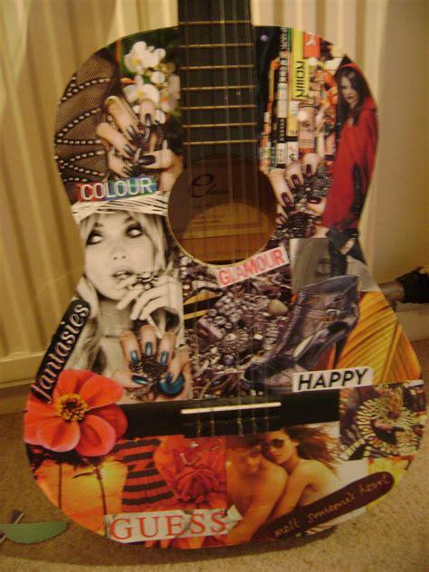 collage guitar     guitar decorating