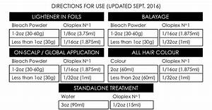 Directions Hair Colour Chart The Most Cost Effective Way To Use Olaplex Use Our Mixing