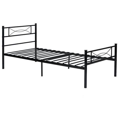platform metal bed frame foundation headboard furniture bedroom twin full size ebay