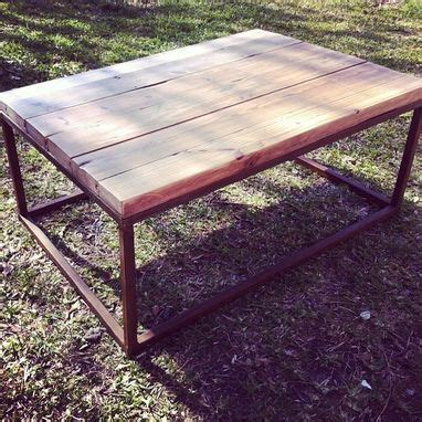 wood top metal base coffee table hand made metal base reclaimed wood top coffee table by