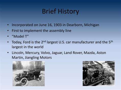 ford motor company powerpoint  id