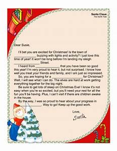 Santa Letter Fill In Printables