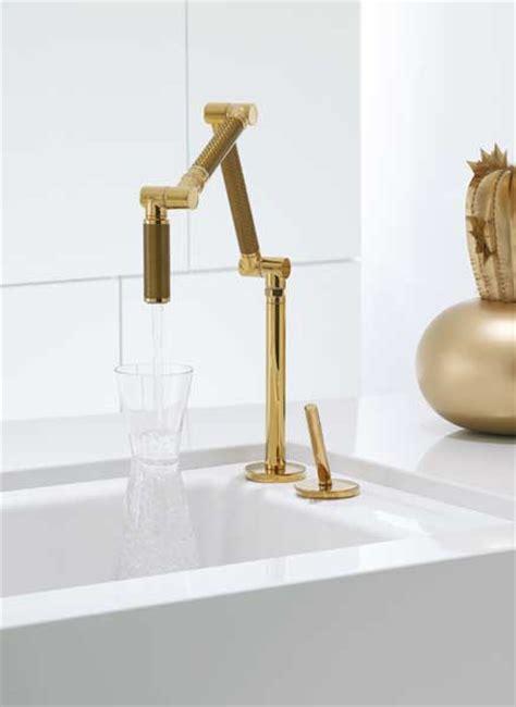 kohler karbon faucet gold kohler k 6227 c13 pgd karbon articulating deck mount