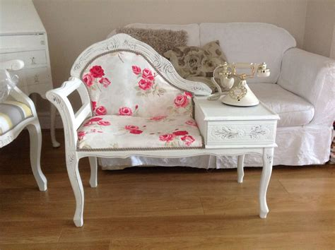 Telephone Table Painted Shabby Chic French Style But With