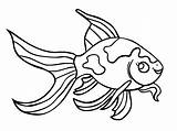 Goldfish Coloring Pages Fish Printable Realistic Bowl Getcoloringpages sketch template