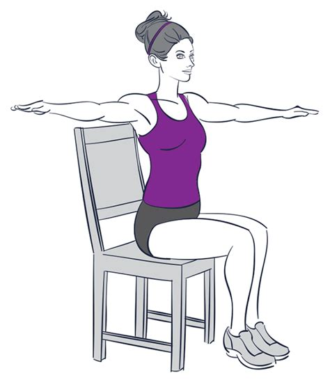 9 exercises you can do while sitting chair