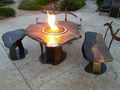 build your own fire pit table diy gas fire pit designs ideas to make at home