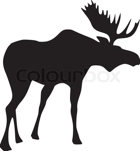 silhouette elch vektorgrafik colourbox