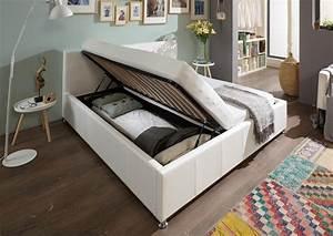 Bett Weiß 180x200 Mit Bettkasten : sam polsterbett wei 180 x 200 cm mit bettkasten doppelbett kira ~ Bigdaddyawards.com Haus und Dekorationen