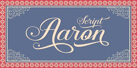 Aaron Script Font   Fontspring