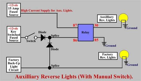 Wiring Diagram For Auto Light Switch by Basic Schematic For Wiring Up Aux Lights With