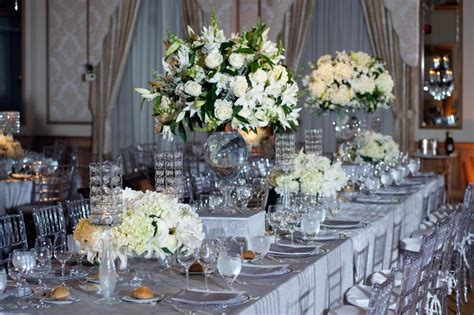 silver table decorations real stories a new years eve winter wedding sparkles in rittenhouse square evantine design blog