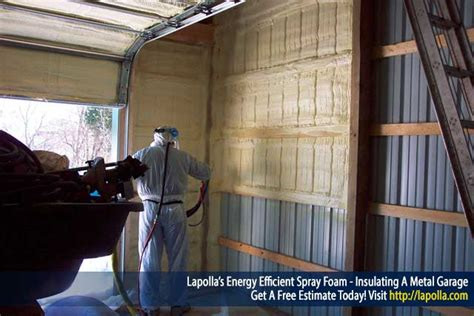 what type of insulation to use in garage spray foam insulation lapolla industries inc