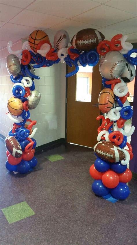 sports themed balloon arch    carlisa balloon