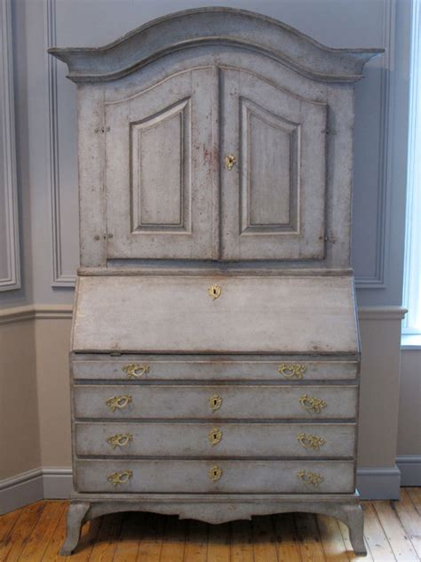 cent swedish painted bureau bookcase  furniture
