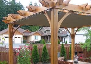 pergola breeze retractable canopy lights olt
