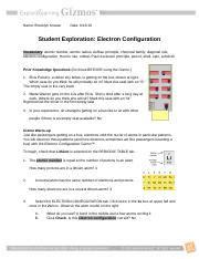 Student exploration electron configuration answer key via. Student Exploration- Electron Configuration (ANSWER KEY).docx - Student Exploration Electron ...