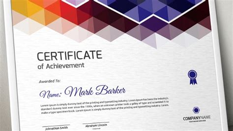 promotion certificate template  word excel  psd