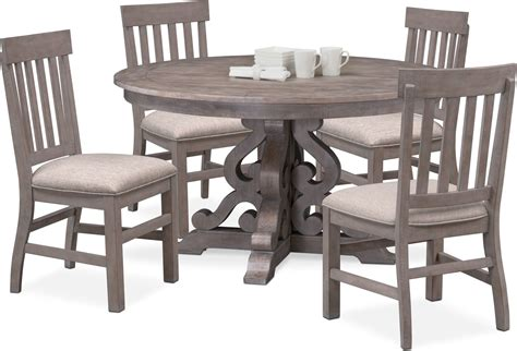 charthouse  dining table   side chairs gray  city furniture  mattresses