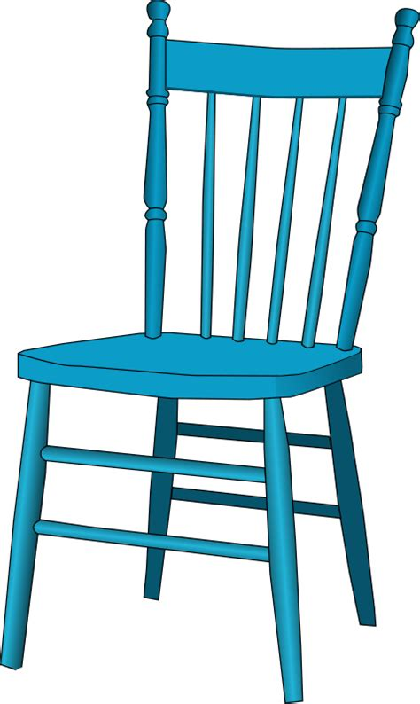 free blue wooden chair clip