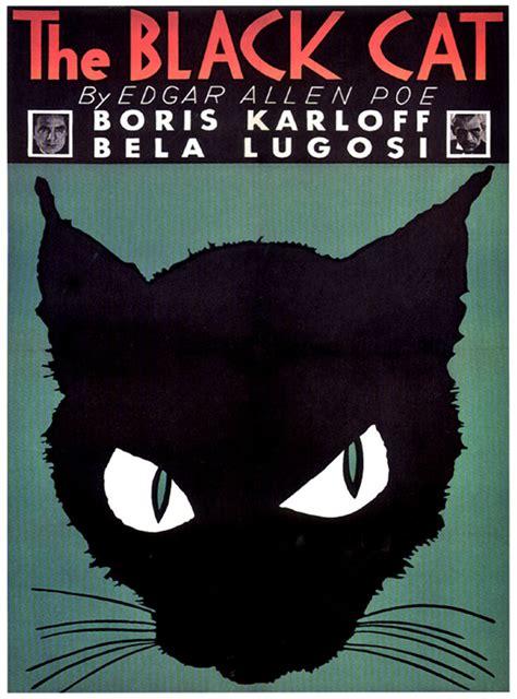 Halloween The Black Cat Movie Poster 1934 Vintage