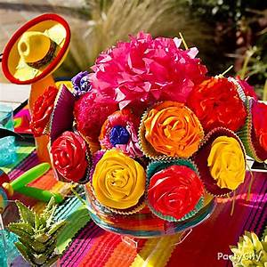 Mexican Party Cupcake Bouquet How To - Party City