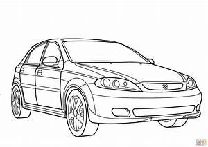 suzuki reno coloring page free printable coloring pages With suzuki swift car