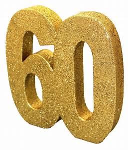 Deko Zum 60 Geburtstag : deko glitzer zahl 60 geburtstag gold ~ Orissabook.com Haus und Dekorationen