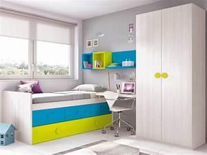 Lit Ado Design : lit gigogne et jumeaux pour la chambre ado prix fun so nuit ~ Teatrodelosmanantiales.com Idées de Décoration