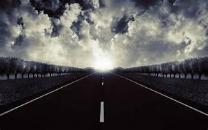 beleza de uma estrada aberta hd papel de parede ...