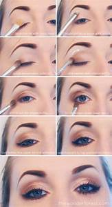 How to make everyday neutral smokey eyes makeup step by ...