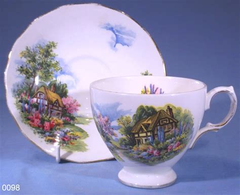 Royal Vale Country Cottage Bone China Tea Cup and Saucer ? SOLD: Collectable China