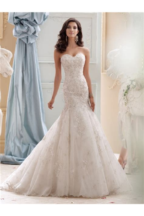 fit and flare dress wedding fit and flare strapless ivory tulle lace beaded wedding dress