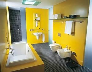 inspiration une salle de bains jaune inspiration bain With salle de bain jaune et bleu