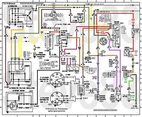 1979 Ford Bronco Wiring Diagram by 1976 Ford Bronco Tech Diagrams Pictures And