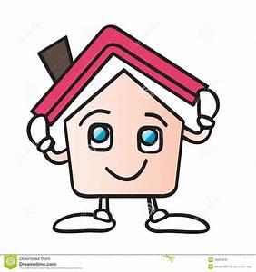 dessin anime a la maison de toit photos libres de droits With toit de maison dessin