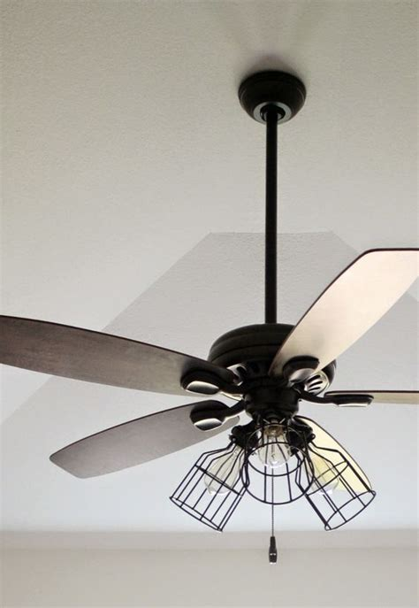 diy cage light ceiling fan diy home projects