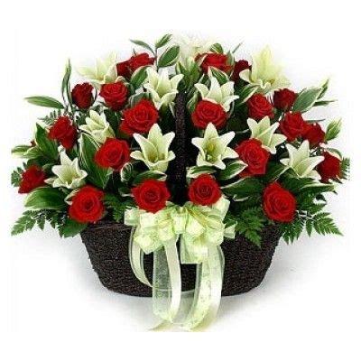 buy blush  aspiration flower basket