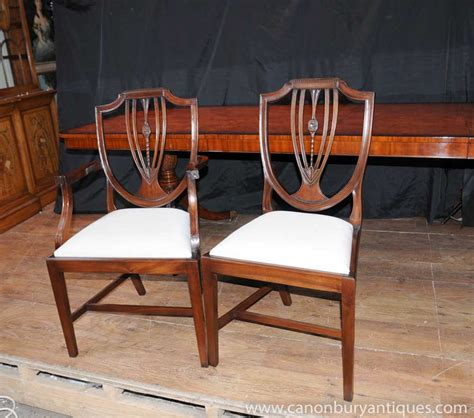 set  regency shield  dining chairs mahogany diners