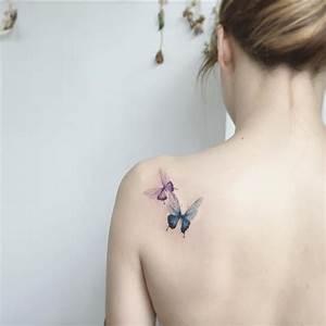 Tatouage Papillon Signification : tatouage papillon femme signification d clinaisons et ~ Melissatoandfro.com Idées de Décoration