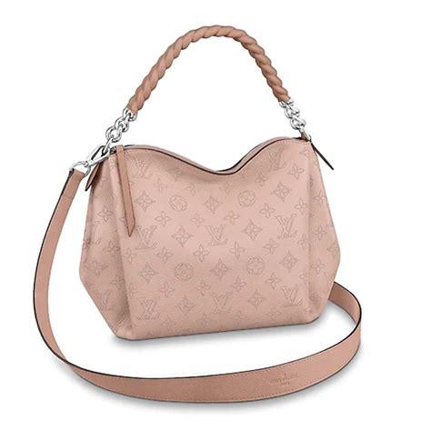 louis vuitton lv women babylone chain bb handbag  mahina perforated calf leather lulux