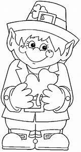 Leprechaun Coloring Pages Printable St Holding Patrick Leprecon Shamrock Sheets Colouring Hand Dibujos Crafts Books Kidsplaycolor Patricks Para Getcolorings Popular sketch template