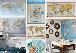 Papier Peint Planisphère : univers creatifs voyage voyage les cartes dans la d co ~ Teatrodelosmanantiales.com Idées de Décoration